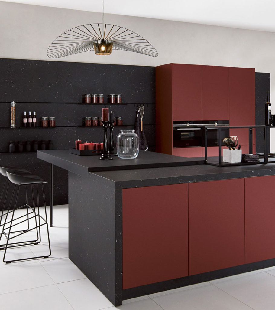 Pronorm red and black kitchen design